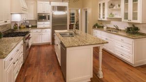 Beautiful Custom Kitchen Interior with Hardwood Floor