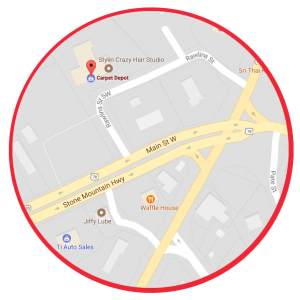 Snellville Map Circle