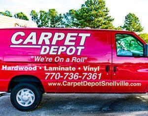 Carpet Depot Snellville Delivery Truck