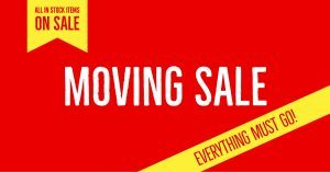 Moving Sale May 2018