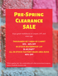 Pre-Spring Clearance Sale - Snellville