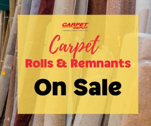 Carpet Rolls & Remnants on Sale Now