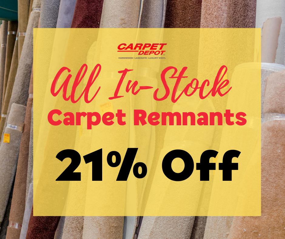 Carpet Remnants 21% Off