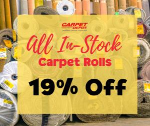 Carpet Rolls 19% Off